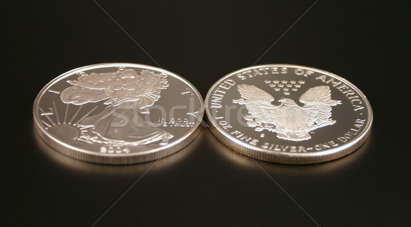Two Silver Dollars Stock photo © chrisbradshaw