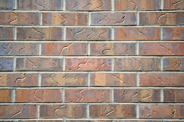 Piros téglafal dekoratív textúra épület fal Stock fotó © chrisbradshaw