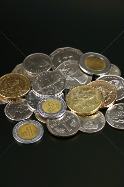 Coins from around the world Stock photo © chrisbradshaw
