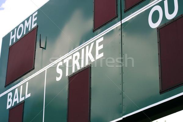 Eredményjelző zöld baseball pálya sport baseball labda Stock fotó © chrisbradshaw