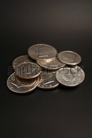 Silver Dollars and Half Dollars Stock photo © chrisbradshaw