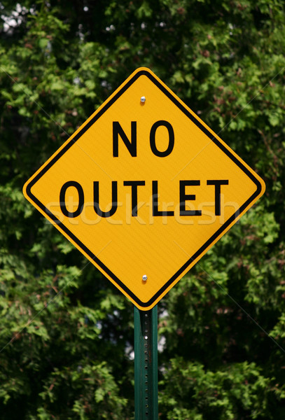 No Outlet Sign Stock photo © chrisbradshaw