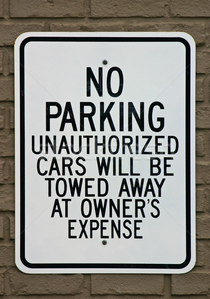 No Parking Sign Stock photo © chrisbradshaw