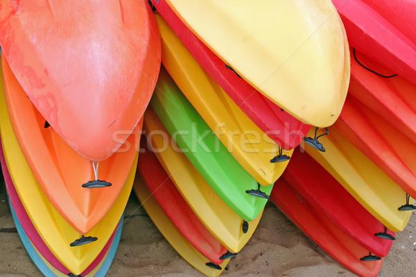 Kayaks Stock photo © chrisbradshaw