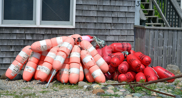 Orange rouge maison cape cod Photo stock © chrisbradshaw