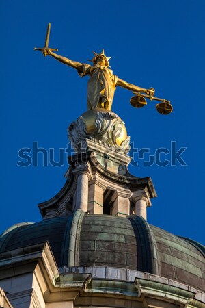 Stock photo: Lady Justice Statue ontop of the Old Bailey in London