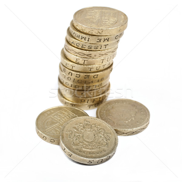 One Pound Coins Stock photo © chrisdorney