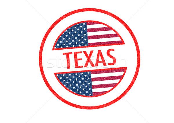Texas blanco bandera vacaciones botón Foto stock © chrisdorney