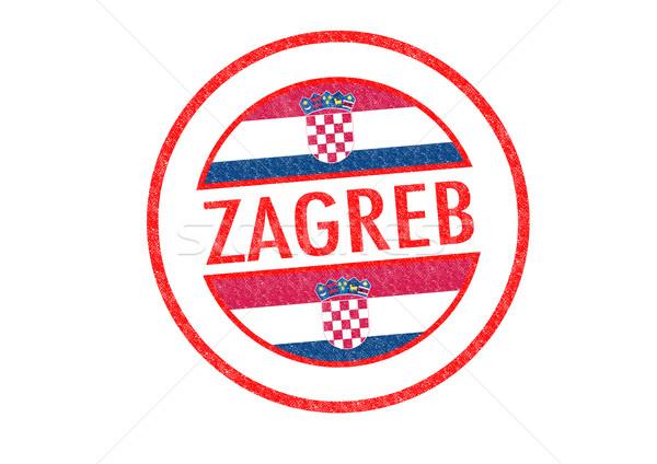 Zagreb Croacia blanco bandera euros Foto stock © chrisdorney
