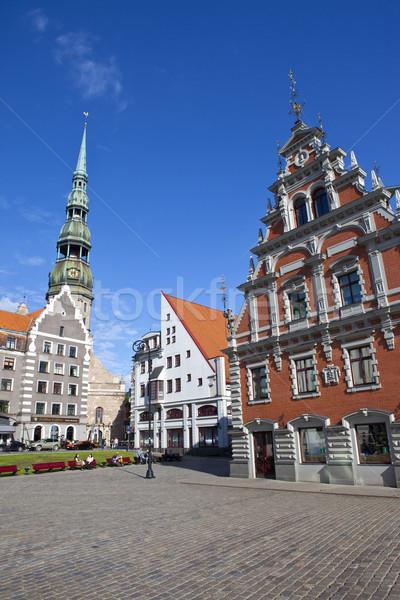 Ev kilise Riga Letonya Stok fotoğraf © chrisdorney
