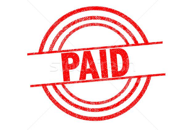 支払われた 白 ビジネス サービス 販売 ストックフォト © chrisdorney