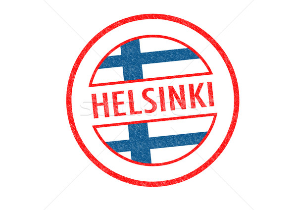 Helsinki blanche vacances bouton passeport Photo stock © chrisdorney