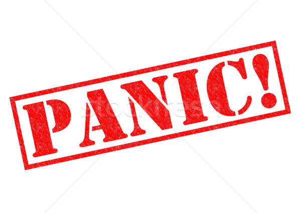 паника красный белый здоровья страхом Сток-фото © chrisdorney