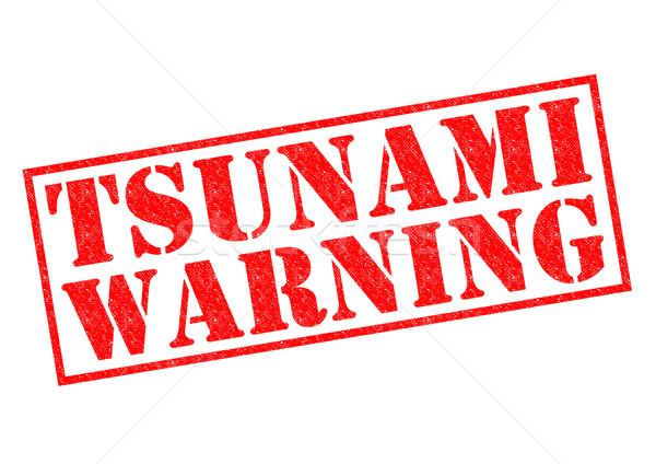 TSUNAMI WARNING Stock photo © chrisdorney