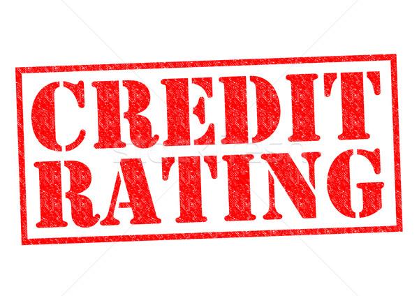 Crédito rojo blanco negocios financieros Foto stock © chrisdorney