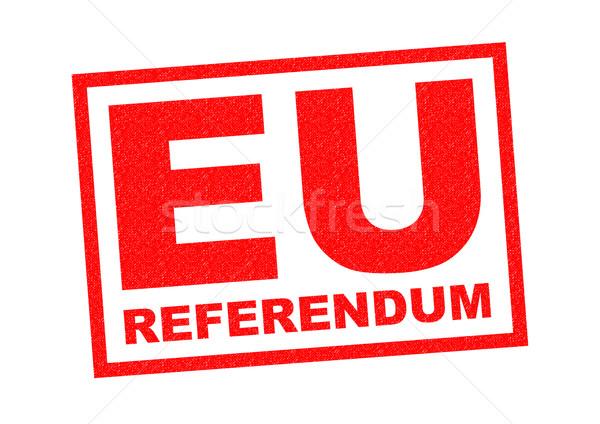 Евросоюз референдум красный белый прав Сток-фото © chrisdorney