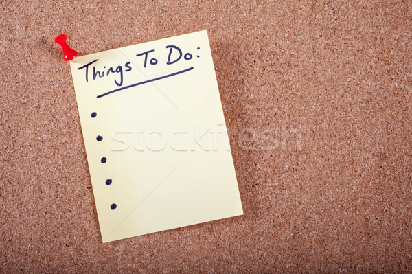 Things To Do List Stock photo © chrisdorney