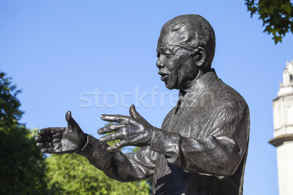 Nelson Mandela Statue in London Stock photo © chrisdorney