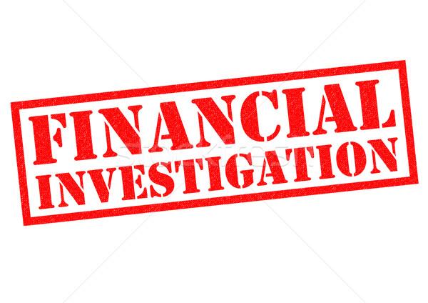 Pénzügyi nyomozás piros pecsét fehér rendőrség Stock fotó © chrisdorney
