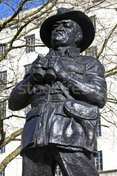 Viscount Slim Statue in London Stock photo © chrisdorney