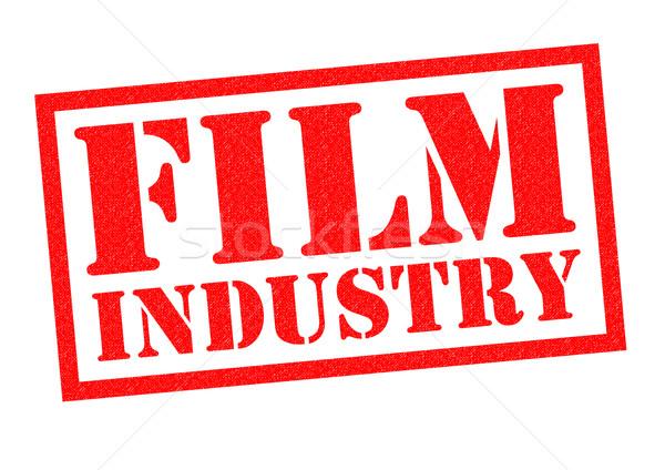 Foto stock: Indústria · cinematográfica · vermelho · branco · música · filme