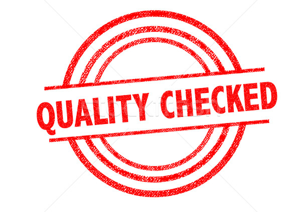 QUALITY CHECKED Rubber Stamp Stock photo © chrisdorney