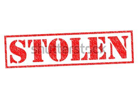 Robado blanco jurídica goma icono Foto stock © chrisdorney