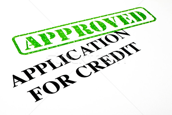 Approved Application For Credit Stock photo © chrisdorney