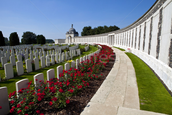 Stock photo: Tyne Cot Cemetery in Ypres