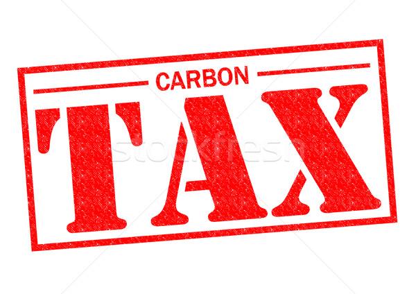 Carbono impuesto rojo blanco dinero Foto stock © chrisdorney