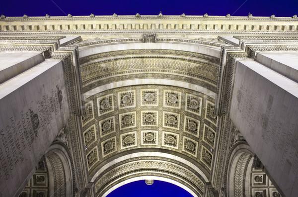 Stok fotoğraf: Arc · de · Triomphe · Paris · Fransa · ışık · savaş