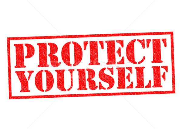 Vous-même rouge blanche sécurité Photo stock © chrisdorney