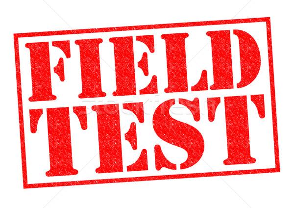 FIELD TEST Stock photo © chrisdorney