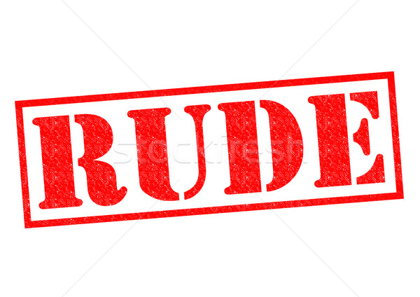 RUDE Rubber Stamp Stock photo © chrisdorney