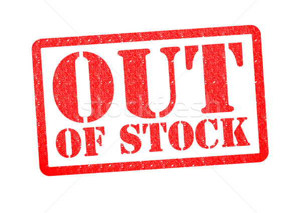 OUT OF STOCK Rubber Stamp Stock photo © chrisdorney