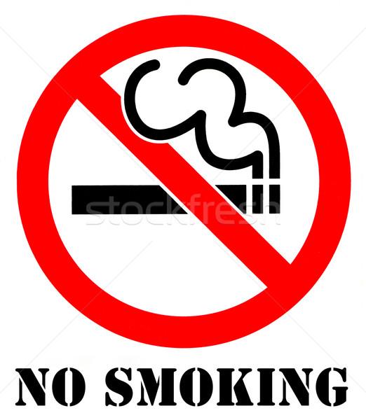 Teken medische rook informatie roken Stockfoto © chrisdorney