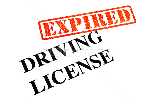 Driving License EXPIRED Stock photo © chrisdorney