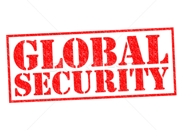 глобальный безопасности красный белый военных Сток-фото © chrisdorney