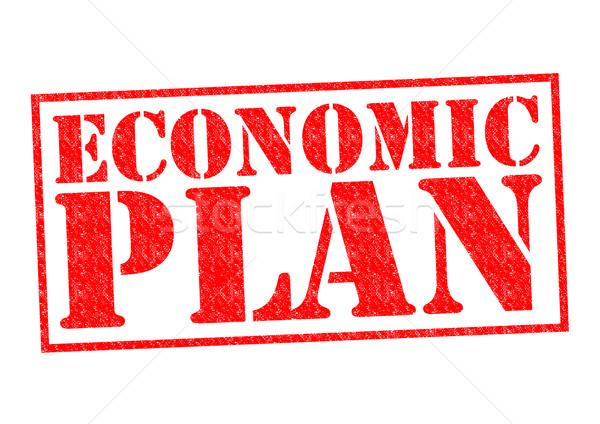 Ekonomiczny plan czerwony biały działalności Zdjęcia stock © chrisdorney