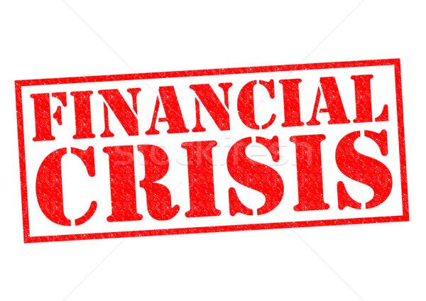 Finansal kriz kırmızı beyaz para finansal Stok fotoğraf © chrisdorney