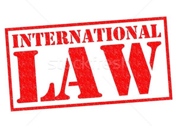 INTERNATIONAL LAW Stock photo © chrisdorney