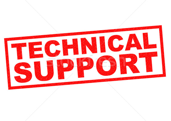 Technischer Support rot weiß Computer Technologie Stock foto © chrisdorney
