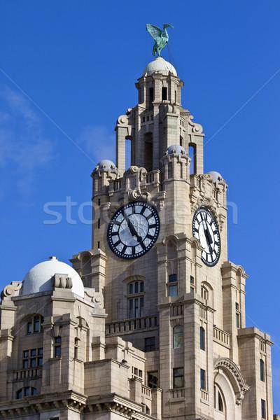 королевский печень здании Ливерпуль исторический Англии Сток-фото © chrisdorney