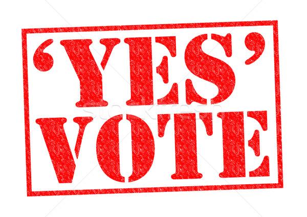 да голосования красный белый прав Сток-фото © chrisdorney