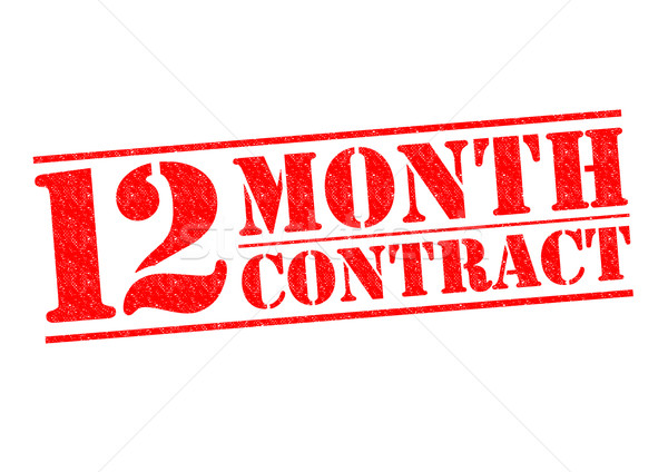 12 MONTH CONTRACT Stock photo © chrisdorney