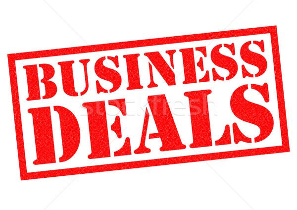 BUSINESS DEALS Stock photo © chrisdorney
