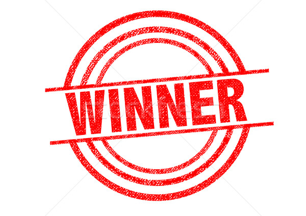 Gewinner weiß Gold Erfolg Sieg Stock foto © chrisdorney