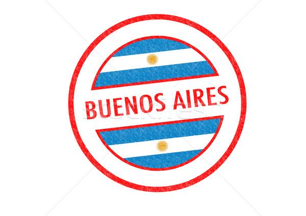 Buenos Aires pecsét fehér zászló vakáció gomb Stock fotó © chrisdorney