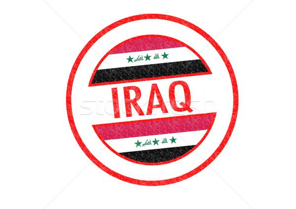 Irak stempel witte vlag asia Stockfoto © chrisdorney
