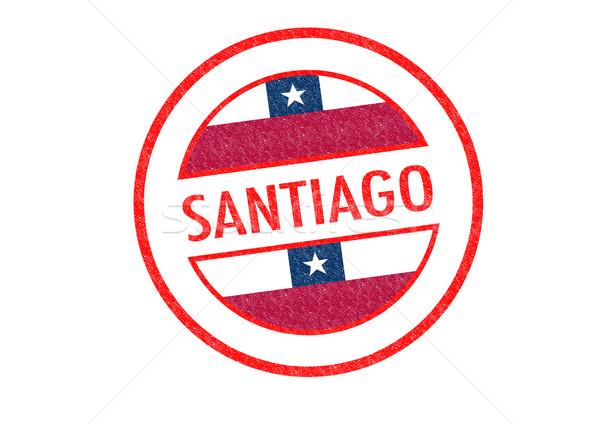 Santiago witte vakantie knop paspoort Stockfoto © chrisdorney